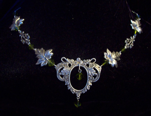 "Collier / Diadème elfique ""Lady of the Wood"""