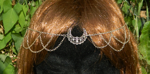 "Collier Diadème Elfique, Wiccan ""Moony"""